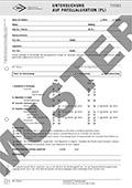 """Formular """"Untersuchung auf Patellaluxation (PL)"""""""